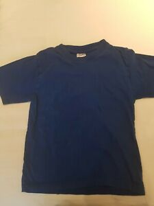 Electric blue short sleeved cotton t shirt