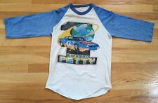 Vintage 80s Richard Petty NASCAR Racing Raglan Shirt 3/4 Double Sided