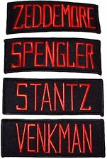 Ghostbusters Movie Set of 4 Character Name Tag Iron-on/Sew-on PATCHES