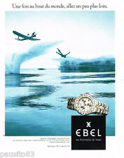 PUBLICITE ADVERTISING 085  1995  EBEL  montre SPORTWAVE CHRONOGRAPHE