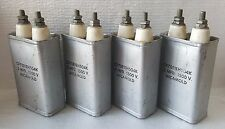 4 Micamold Oil Capacitors CP70E1EH504K : 0.5 Mfd. 1500V / NOS
