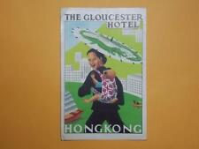 "Hong Kong 1940-50's The Central ""The Gloucester Hotel"" Luggage Label Rare"