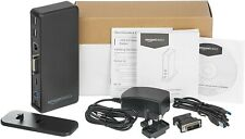 AmazonBasics USB 3.0 Universal Laptop Docking Station Plug and Play