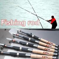 Spinning Fishing Rod Carbon Fiber Travel Lure Pole Portable Ultra Light Rod New