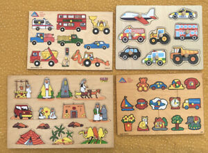ELC Household And Transport  Edu Fun Arabian Desert Wooden Jigsaw Puzzle Bundle
