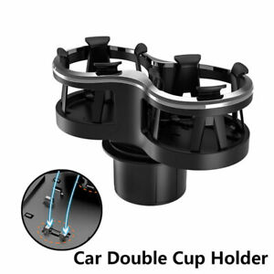 Universal Car Double Hole Cup Holder Drink Holder Insulation Cup Holder Black