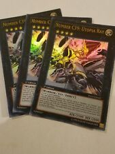 3x Yugioh YS13-EN042 Number C39: Utopia Ray Ultra Rare Card