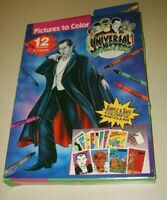 RARE UNIVERSAL MONSTERS 1992 PICTURES TO COLOR (12) NEW UNUSED DRACULA WOLFMAN