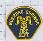 CA- Borrego Springs Fire Dept patch. See scan.