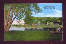 Stephenson Island From Riverside Drive  Marinette Wisconsin Vintage Postcard