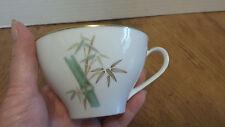 """Noritake ORIENTAL  2 3/8 """"Tea Coffee Cup MUG #6341 Green Bamboo gold trim"""
