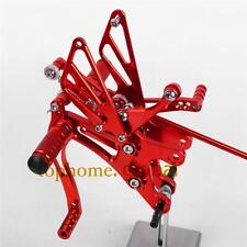 For Yamaha YZF R1 2004 2005 2006 CNC Adjusting Rearset Footpegs Rear Set Red