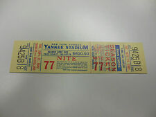 1982 NEW YORK YANKEES BASEBALL TICKET VS CLEVELAND INDIANS GOOD CONDITION RARE