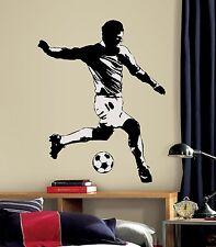RoomMates 54275 Fußballspieler Wandtattoo  Wandsticker Mural Soccer Player