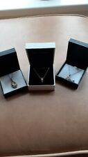 925 Sterling Silver Necklaces Hallmarked Jewellery Quantity 3 items in boxes
