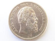 H346      WÜRTTEMBERG 5,- Mark 1876