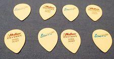 8 New Oldstock Hofner Guitar Picks Tear Drop Strap It On Extra Heavy