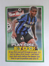 2009 Match of the Day Magazine Eto'o Inter Milan Card
