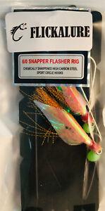 FLICKALURE 6/0 SNAPPER FLASHER RIG ORANGE/ANCHOVY, SNAPPER SNATCHER CHEM SHRPN