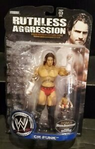 Jakks Pacific WWE Ruthless Aggression CM Punk Action Figure W/ Micro Figure