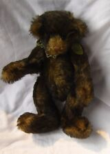"""Artist Bear Collectible 11"""" Hollyberry Fully Jointed Tipped Mohair"""