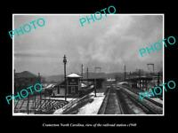 OLD LARGE HISTORIC PHOTO OF CRAMERTON NORTH CAROLINA, RAILROAD STATION c1940