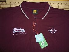 MENS MEDIUM WINE MINI CLUBMAN COTTON POLO SHIRT - NWT