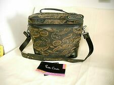 """Pierre Cardin The Mystique Collection 12"""" Padded Travel Case Black & Taupe 12x11"""