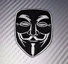 Embroidered Patch Iron Sew  Logo Emblem movie mask Vendetta Anonymous
