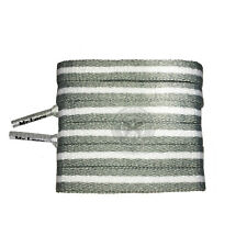 Mr Lacy Stripies - Grey & White Striped Shoelaces  - 130cm Length 10mm Width
