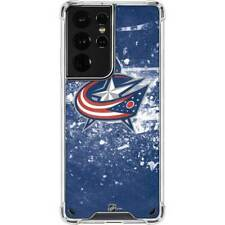NHL Columbus Blue Jackets Galaxy S21 Ultra 5G Clear Case