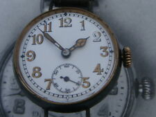 "WW1 German exquisite dialled ""M""Military cylinder Trench watch serviced & glass"