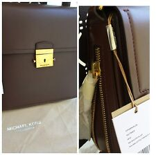 Michael Kors COLLECTION Mia French Calf Leather Shoulder Bag $2150 *Nutmeg*