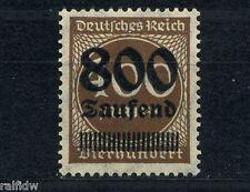 Dt. Reich 800Tsd./400M. Aufdruckfehler** Michel 305 I geprüft (S4593