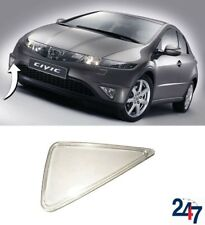 NEW HONDA CIVIC HACHBACK 2006-2011 FRONT BUMPER FOG LIGHT GLASS COVER RIGHT O/S