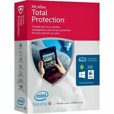 McAfee Total Protection Security /Unique Global Key Code/1 Year 2019-2020 /5 PC