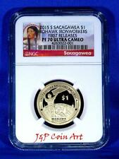 2015 S Sacagawea $1 Mohawk Ironworkers First Releases NGC PF70 U.C. Red Label