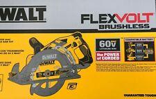 DeWalt Dcs577B 7 1/4 Flex Volt Worm Drive Circular Saw 60 volt New w Blade