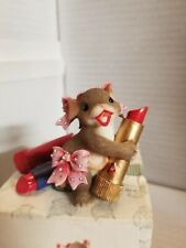 Charming Tails Kiss Me Valentine Day Mouse Figurine 84/126 Mib