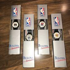Lot of 4 vtg 90s BULOVA Sportstime NBA Team Lakers Hornets Cavs Suns WRIST WATCH