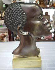 1930's Austrian Art Deco After Franz Hagenauer Bronze African Woman Bust