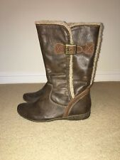 Ladies RELIFE By PAVERS Brown Fur Lined Winter Boots, UK Size 6