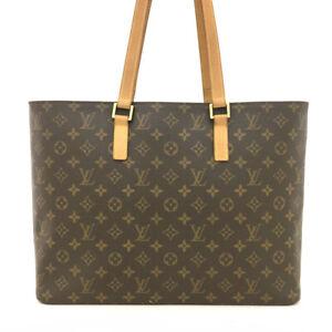 100% Authentic Louis Vuitton Monogram Luco Shoulder Tote Bag /61692