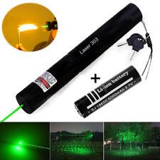 50Miles Green 532nm Laser Pointers Lazer Pen Beam Lamp Zoom Burn +18650 Battery
