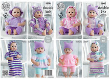 King Cole 5000 Knitting Pattern Dolls Clothes in King Cole DK