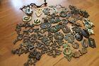 Vintage Lot of 60 Metal Escutcheon Key Hole Covers Many Ornate Steampunk