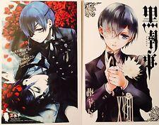 Kuroshitsuji Black Butler-CIEL SEBASTIAN ALOIS CLAUDE Postcard Photo Card Set #T