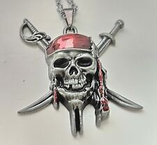 Pirates of the Caribbean Silver Necklace Black Pearl Ship Costume Jewellery USA