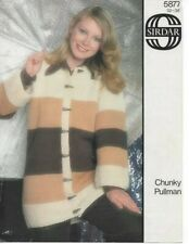 Vintage Sirdar Knitting  Pattern No 5877 Jacket in  Chunky Size  32 - 38 in
