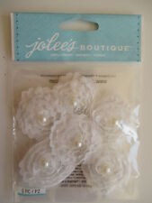 Jolee's Boutique 3D Stickers - White Small Florals - fabric flowers